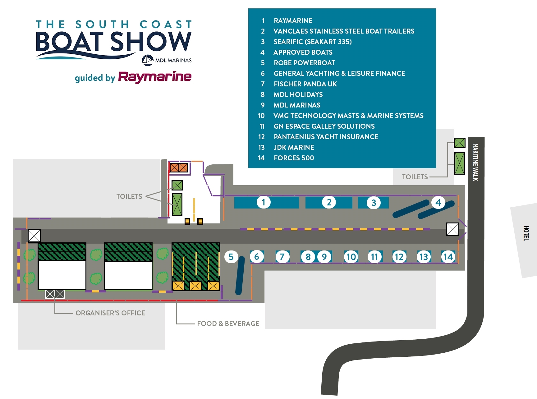2021 Show Plan - Land Side Exhibitors
